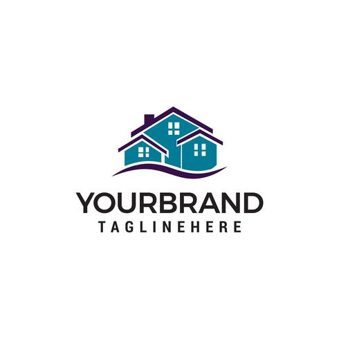 Creativo Real Estate Logo Design. Logo della casa vettore