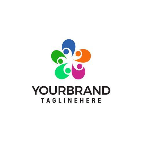 La gente collega il logo, modello di progettazione di logo della gente della Comunità vettore
