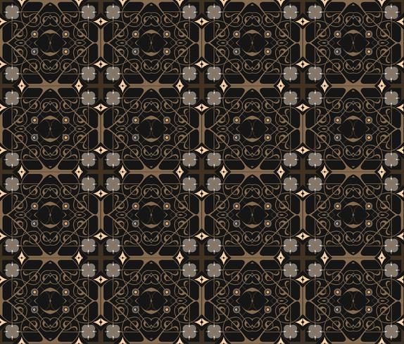 Ornamento arabo senza soluzione di continuità. Motivo decorativo ornamentale vettore