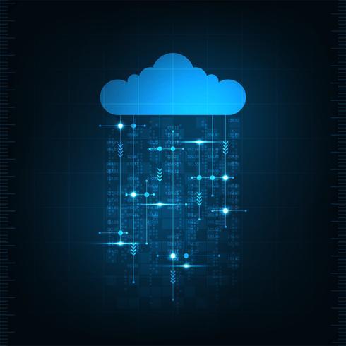 Nube nel concetto di comunicazione. vettore
