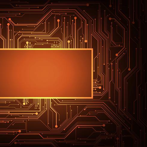 Il design dei circuiti elettronici è complesso. vettore