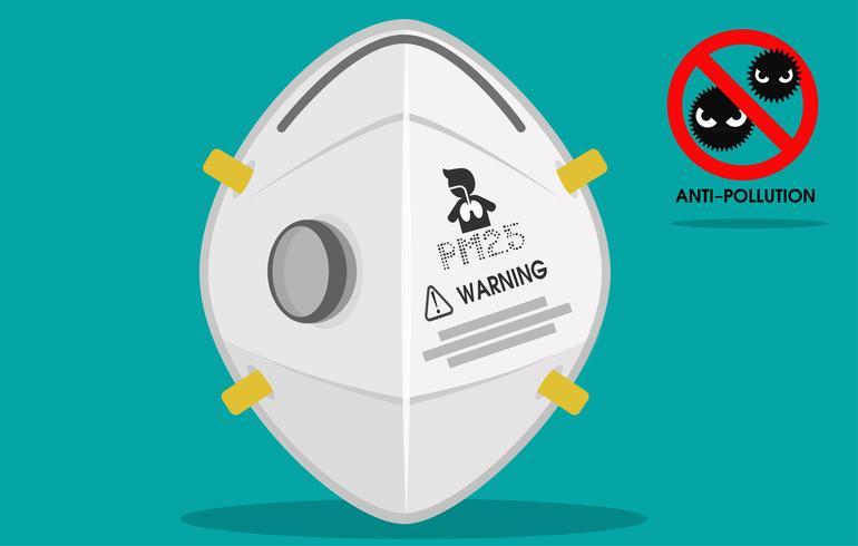 Maschere PrintN95, dispositivi di protezione dalla polvere nell'aria vettore