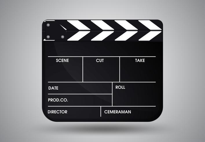 PrintSlate del film regista. Illustrazione vettoriale EPS10.
