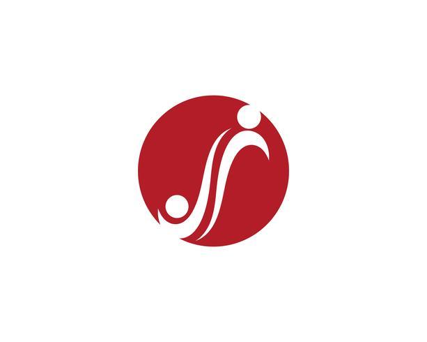 Modello di Logo di adozione e comunità infinito cura vettore