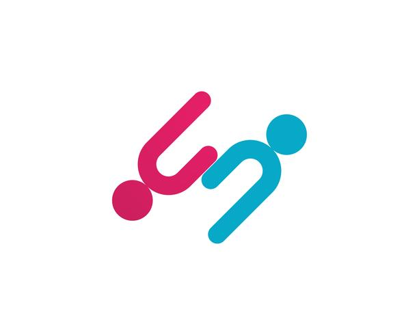 cura della comunità Icona di vettore del modello di logo