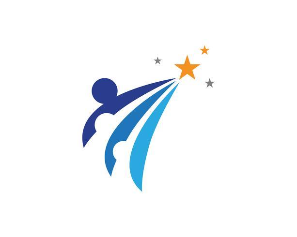 Vettore di logo della gente della Comunità