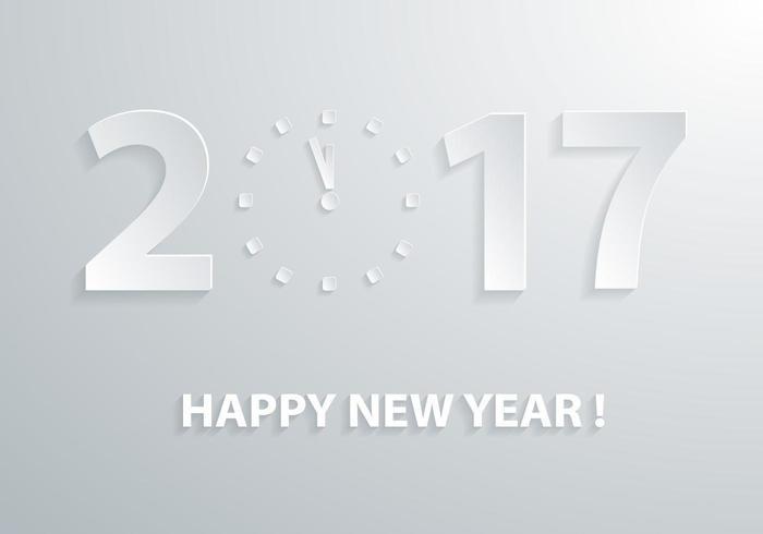 2017 Wallpaper vettoriale orologio