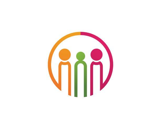 Adozione e cura della comunità Logo vettoriale modello icone