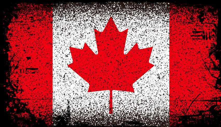 bandiera di grunge Canada vettore