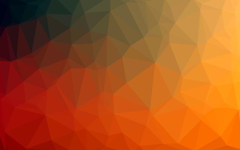 Astratto colorato poli basso sfondo vettoriale con sfumature di arancione