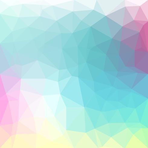 Vettore di colore pastello chiaro Low poly crystal background. Modello di progettazione poligono. Basso poli illustrazione sfondo.