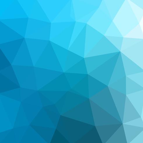 Basso poli blu astratto costituito da triangoli. Arte vettoriale