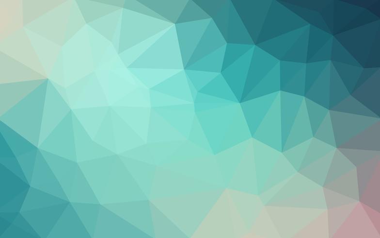 Vettore blu-chiaro Sfondo di cristallo basso poli. Poligono design pa