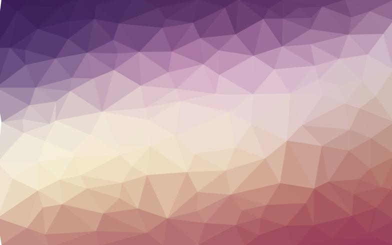 Vettore di luce arancione viola Low poly crystal background. Poligono