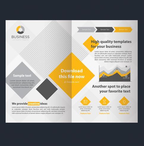 Modello di brochure aziendale giallo vettore