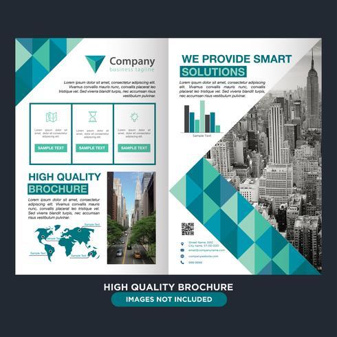 Brochure aziendale geometrico pieghevole vettore