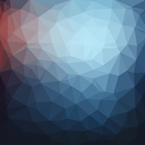 Fondo geometrico astratto blu scuro dell'illustrazione di vettore di stile di poli basso