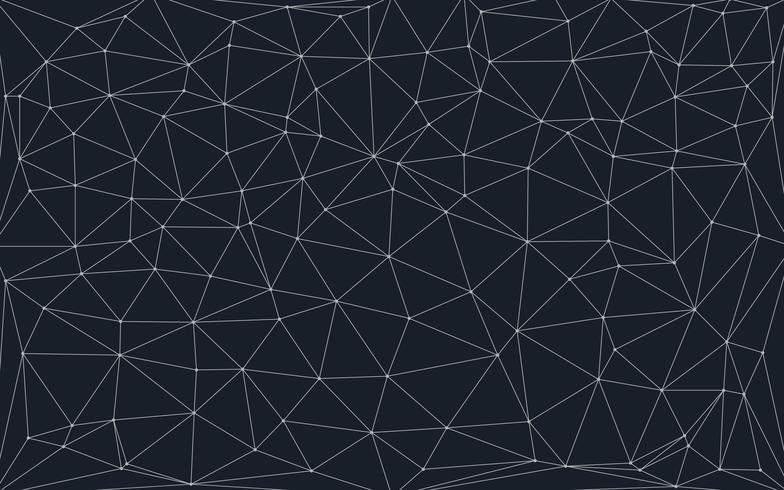 sfondo basso poli con punti e linee di collegamento vettore