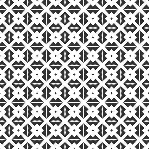 Modello senza cuciture geometrico astratto. Ripetendo geometrica trama in bianco e nero. decorazione geometrica vettore