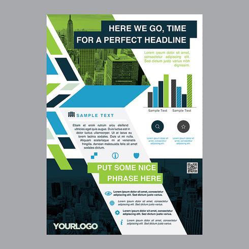 Brochure aziendale pieghevole colorato vettore