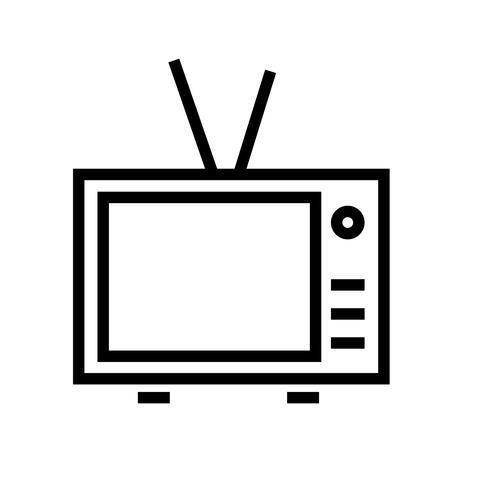 Vettore dell'icona della televisione