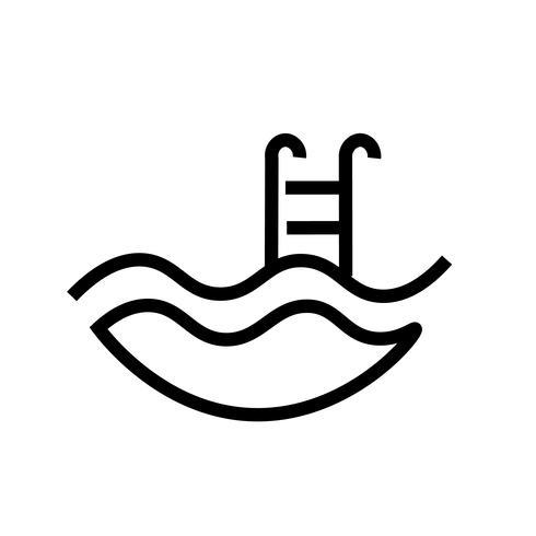 piscina icona vettoriale