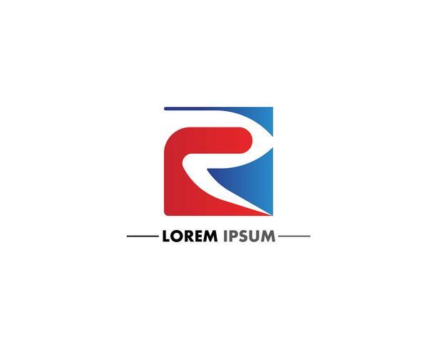 Icona di vettore di lettera R lettera