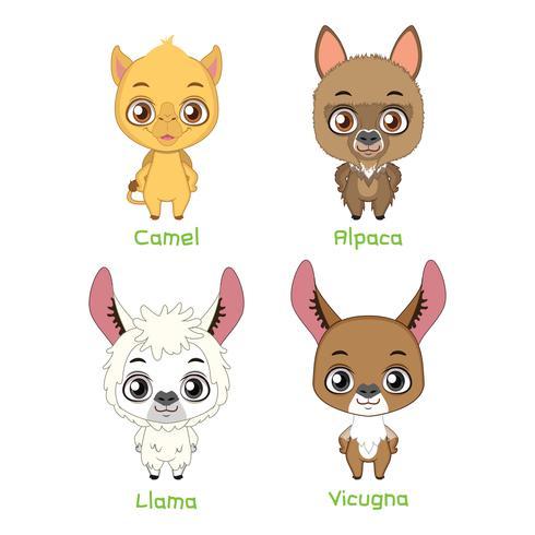 Set di animali da soma vettore