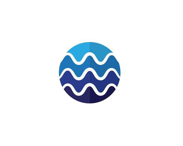 Illustrazione del modello logo onda d'acqua vettore