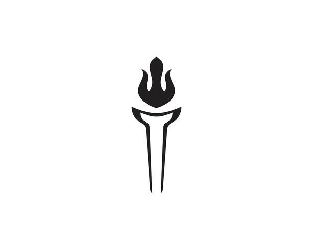 Iniziale T for Torch logo e simbolo di design ispirazione vettore