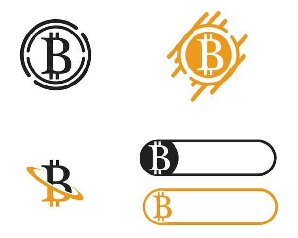 Modello vettoriale logo Bitcoin