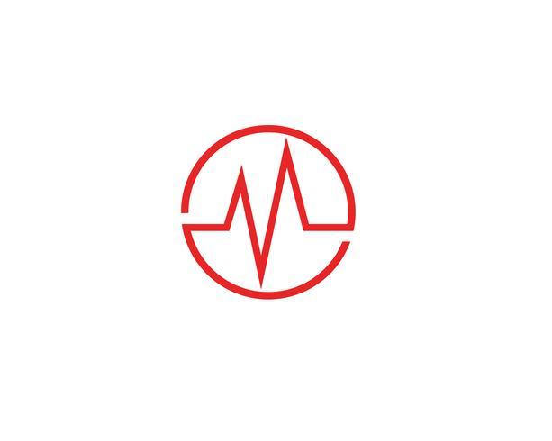Vettore di linea logo onda battito cardiaco