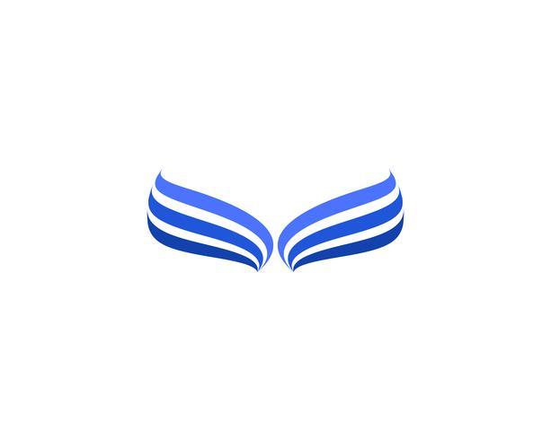 Icona dell'uccello del segno dell'uccello dell'uccello delle ali vettore