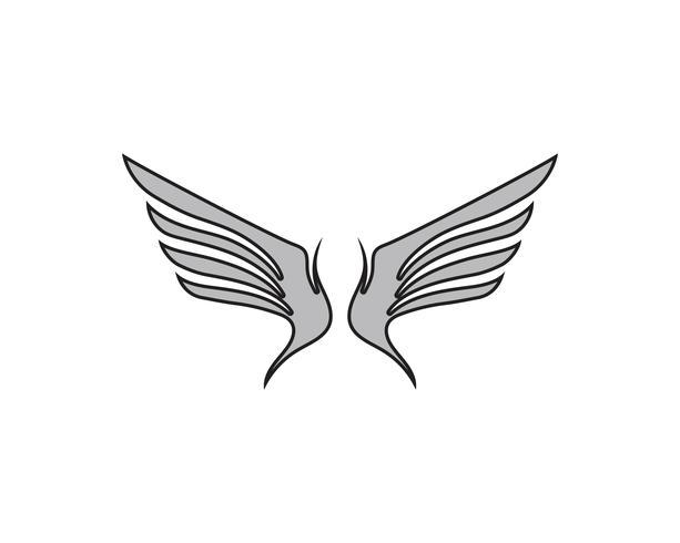 Logo di uccello falco ala vettore