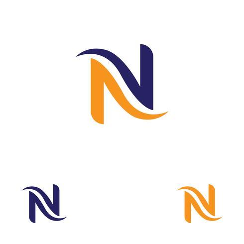 Modello di lettera N Logo vettore