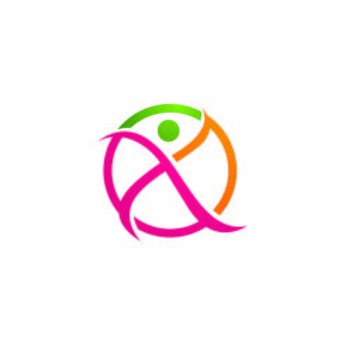 Segno logo carattere umano vettore