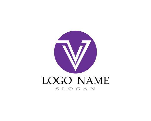 V logo e simboli icone vettoriali di icone