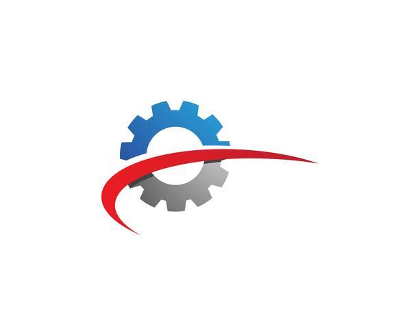 Icona di vettore di Gear Logo Template