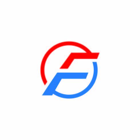Icona di vettore di lettera F.