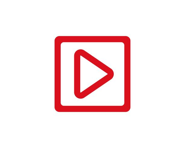 Vettore del giocatore di media di logo di vettore del bottone del gioco