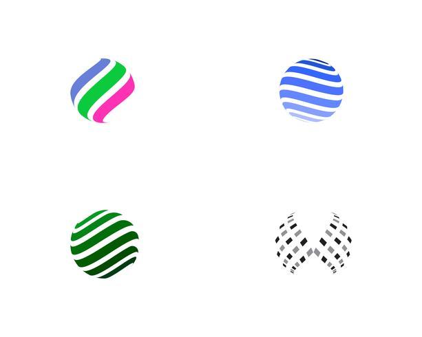 Icona di logo mondo filo colorato vettore