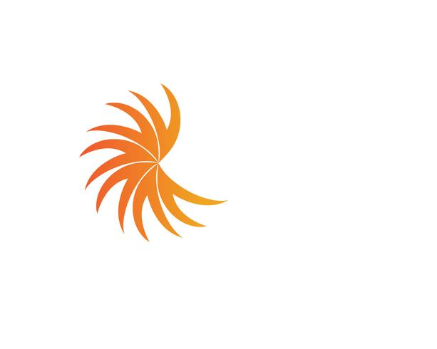 Sun logo aziendale linea vettoriale