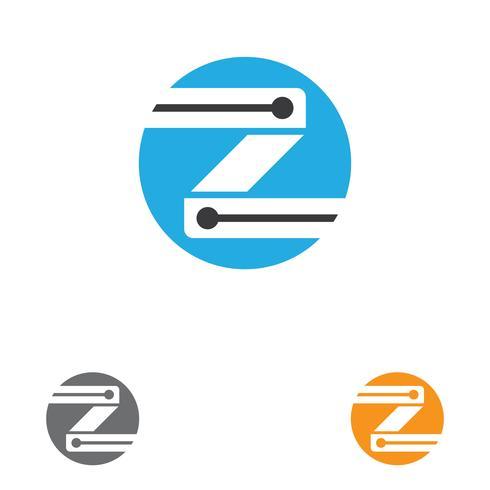 Illustrazione dell'icona di vettore del modello di Logo della lettera di Z.