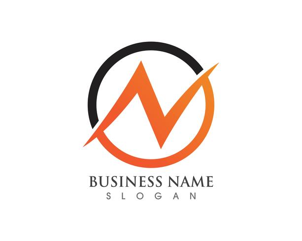 N Logo Letter Business Template vettoriale