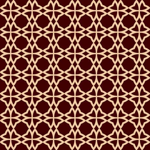 Motivo geometrico linea senza soluzione di continuità. Design grafico contemporaneo. Texture lineare senza fine per carta da parati, riempimenti a motivo, sfondo della linea di pagina web. Ornamento geometrico marrone dorato monocromatico vettore