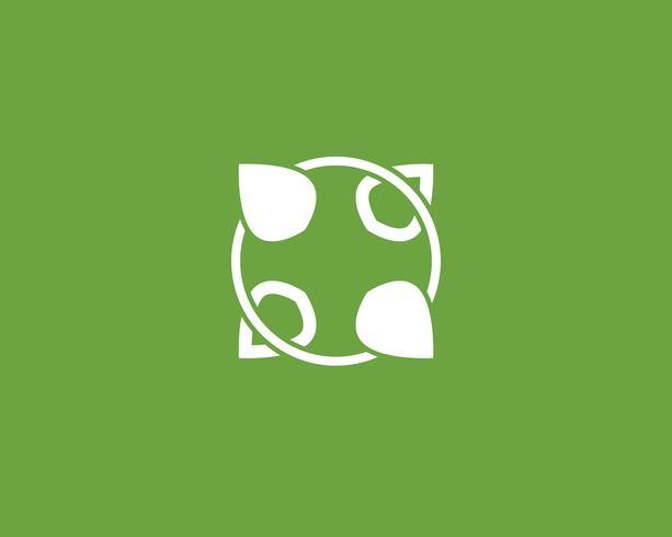 foglia verde logo ecologia natura elemento vettore