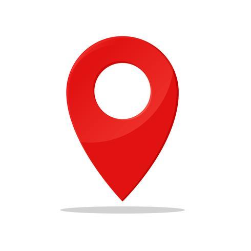 Simbolo pin Indica la posizione della mappa GPS. vettore