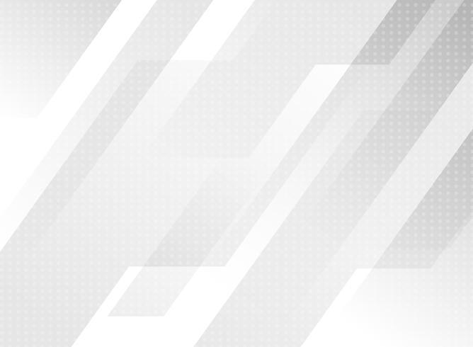 Astratto grigio tecnologia moderna geometrica con motivo a punti su sfondo bianco. vettore