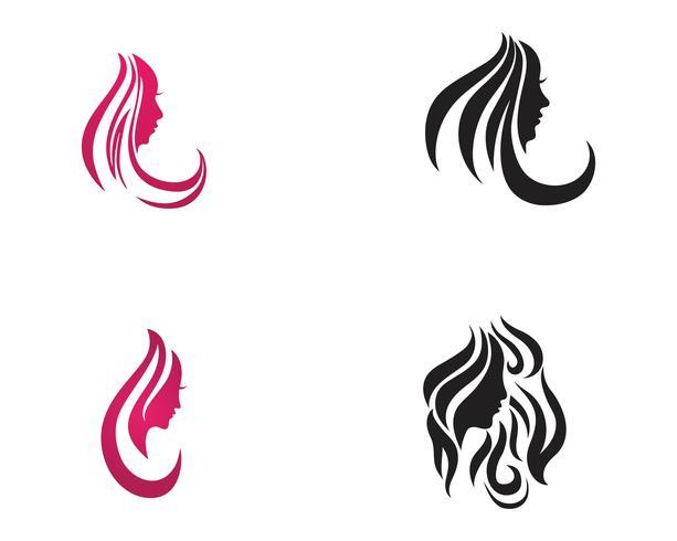 Modelli di vettore logo salone capelli e viso