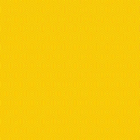 Priorità bassa gialla astratta del reticolo di esagono vettore